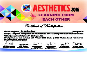Aesthetics 2016, CME on LASERS & Hair Transplant
